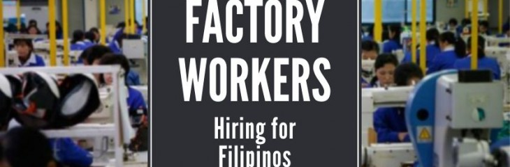 Applying for Factory Workers in the Philippines in COVID-19